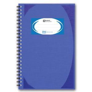 ตราช้าง สมุดบันทึกมุมมันสันห่วง WHC402 70 แกรม บรรจุ 100 แผ่น สีน้ำเงิน