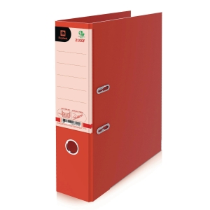 ELEPHANT 2100F LEVER ARCH FILE CARDBOARD F 3   RED