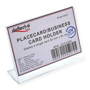DEFLECT-O 46301-TL BUSINESS CARD HOLD L-SHAPE HORIZONTAL