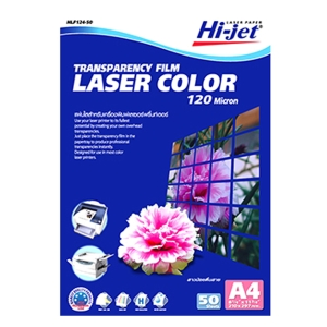 HIJET HLF124-50 TRANSPARENCY FILM LASER 120 M A4 BOX OF 50