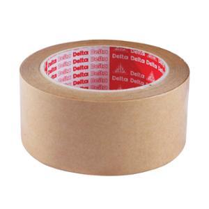 DELTA เทปกระดาษคราฟท์กาวในตัว 2 นิ้ว x 30 หลา แกน 3 นิ้ว น้ำตาล