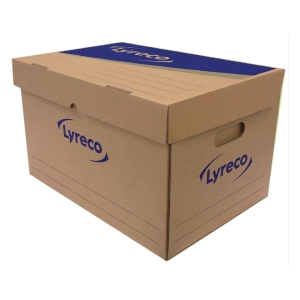LYRECO PAPER STORAGE BOX 40X35X32CM - PACK OF 2