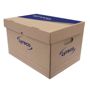 LYRECO PAPER STORAGE BOX 40X31X32CM - PACK OF 2
