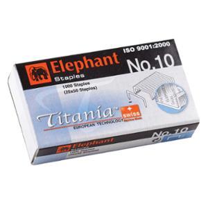 ตราช้าง ลวดเย็บกระดาษTITANIA รุ่น10-1M 1000ลวด/กล่อง