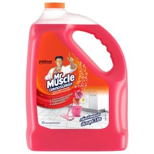 KIWI MR MUSCLE น้ำยาทำความสะอาดพื้น 3IN1 กลิ่นสวีทฟลอรัล 5200 มิลลิลิตร