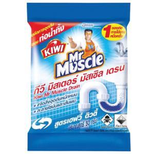 KIWI MR MUSCLE ผงทำความสะอาดท่อน้ำทิ้ง 50 กรัม