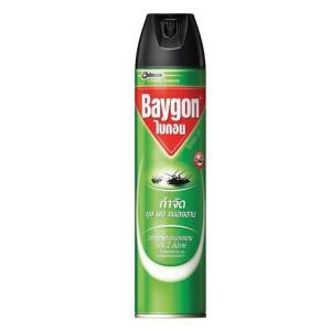 BAYGON สเปรย์กำจัดแมลง สูตรกำจัดแมลงบินและแมลงคลาน เขียว 600มล