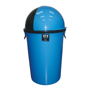KEEP IN SPACE CAP TRASH BIN 75 LITRES BLUE