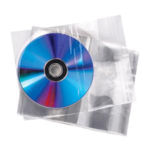 ซองใส่ซีดี 1 แผ่น ปากแถบกาว สีใส บรรจุ 50 ซอง
