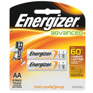 ENERGIZER X91 ADVANCE ALKALINE BATTERIES AA PACK OF 2