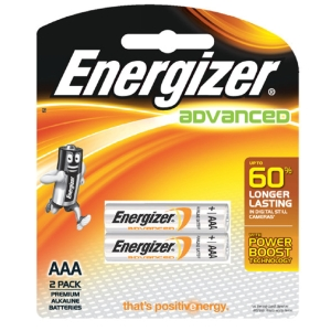 ENERGIZER X92 ADVANCE ALKALINE BATTERIES AAA PACK OF 2