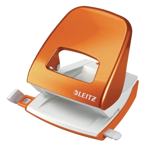 LEITZ NEXXT SERIES WOW 2-HOLE PAPER PUNCH  30 SHEETS  ORANGE