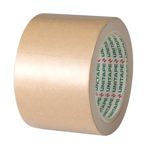 UNITAPE ADHESIVE TAPE KRAFT PAPER SIZE 3 INCH X 25 YARDS CORE 3INCH BROWN