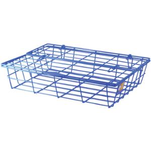 ORCA 78 WIRE TRAY WITH LID PLASTIC COATED BLUE