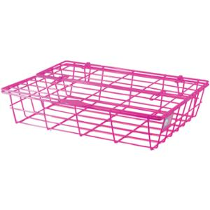 ORCA 78 WIRE TRAY WITH LID PLASTIC COATED  PINK
