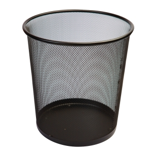 ORCA H-9661 METAL WASTE BIN 8 LITRES BLACK