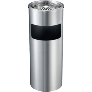 ASHTRAY AND WASTE BIN STAINLESS 25.4X58.4CM SILVER