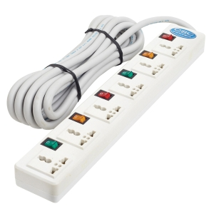 CSC EXTENSION CABLE 6 SOCKETS 6 SWITCH 3 METERS