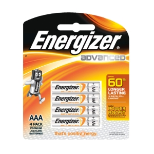 ENERGIZER X92 ADVANCE ALKALINE BATTERIES AAA PACK OF 4