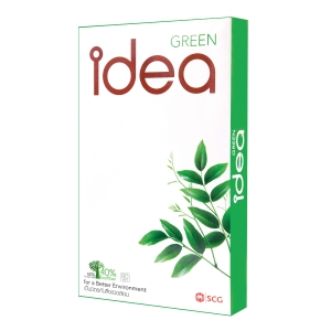 IDEA GREEN COPY PAPER F14 80G - WHITE - REAM OF 500 SHEETS