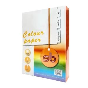 SB COLOURED COPY PAPER A4 80G STRONG ORANGE - REAM OF 500 SHEETS