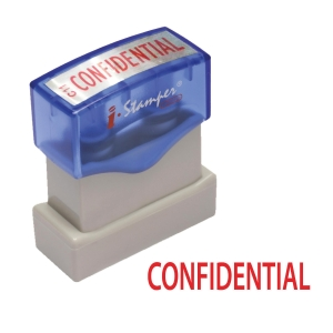 I-STAMPER C011 SELF INKING STAMP   CONFIDENTIAL   ENGLISH LANGUAGE - RED