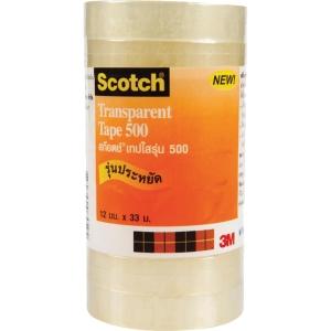 SCOTCH เทปใสรุ่น5001/2นิ้วx 36หลา แกน1นิ้ว แพ็ค 9 ม้วน