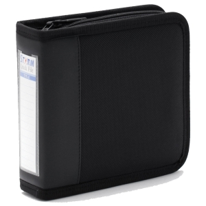 STORM QF012 CD CASE WITH ZIP HOLDS 30 CDS BLACK