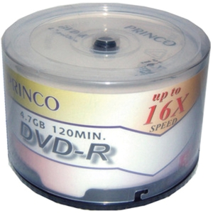 PRINCO แผ่น DVD-R 120 นาที 4.7 GB 16X บรรจุ 50 แผ่น