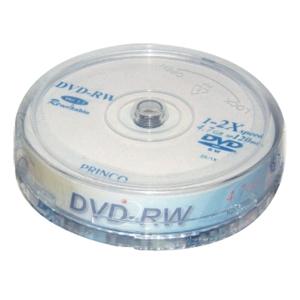 PRINCO แผ่น DVD-RW 120 นาที 4.7 GB 1-2X บรรจุ 10 แผ่น