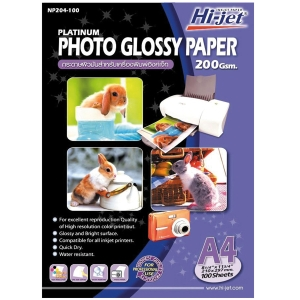 HI-JET PLATINUM GLOSSY PHOTO PAPER A4 200G - PACK OF 100