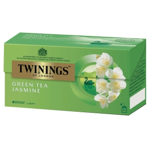TWININGS TEA BAGS JASMINE GREEN TEA BOX OF 25 SACHETS