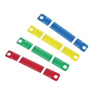 ORCA PLASTIC PAPER FASTENER ASSORTED COLOURS - PACK OF 50