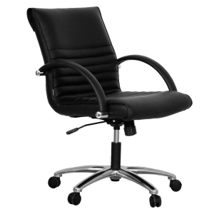 ACURA LD/M OFFICE CHAIR PVC BLACK