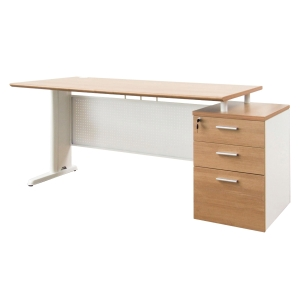 ACURA WSM1703-80 OFFICE TABLE CAPPUCCINO/WHITE