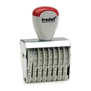 TRODAT TR-1548 RUBBER STAMP NUMBER 8 DIGITS 4MM