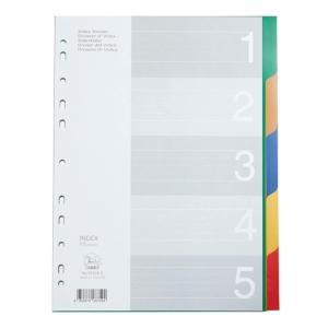 FLAMINGO 9532A-5 อินเด็กซ์พลาสติก A4 1-5หยัก 5 สี