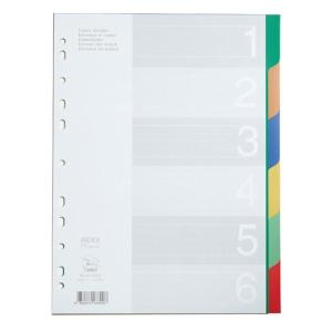FLAMINGO 9532A-6 อินเด็กซ์พลาสติก A4 1-6หยัก 6 สี