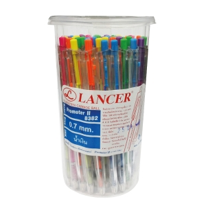 LANCER PROMOTER II 8382 BALLPOINT PEN 0.7MM BLUE - PACK OF 50