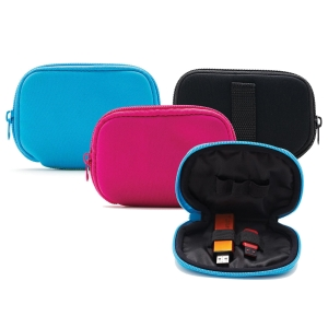 STORM FLASH DRIVE CASE WITH ZIP HOLDS ASSORTED COLOURS