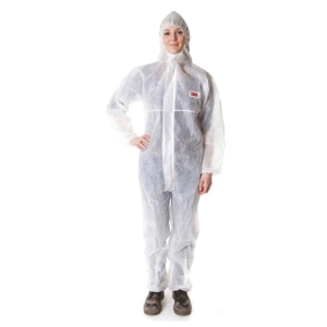 3M 4500 COVERALL CHEMICAL PROTECTION LARGE WHITE