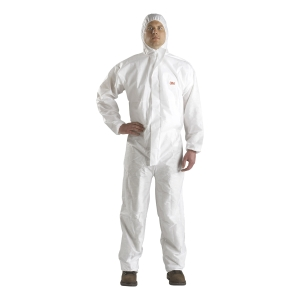 3M 4520 COVERALL CHEMICAL PROTECTION LARGE WHITE/GREEN