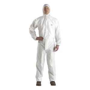 3M 4520 COVERALL CHEMICAL PROTECTION EXTRA LARGE WHITE