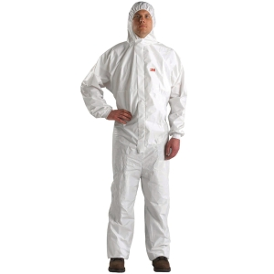 3M 4540 COVERALL CHEMICAL PROTECTION EXTRA LARGE WHITE