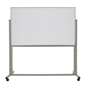 APEX 1 SIDED MAGNETIC WHEEL WHITEBOARD 120 X 180CM
