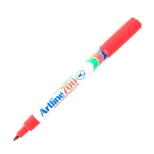 ARTLINE ปากกาเคมีหัวกลม EK-700 0.7มม. แดง