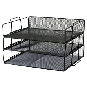 ORCA H-0931 DOCUMENT TRAY 3 LEVELS BLACK