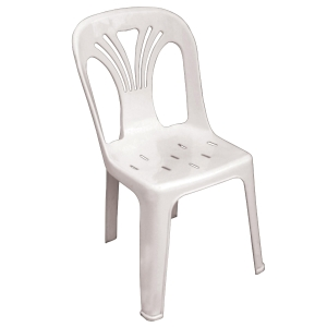 ACURA U-0001 PLASTIC CHAIR WITH BACK SUPPORT WHITE