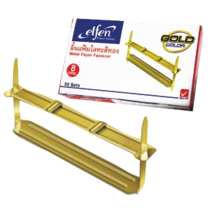 ELFEN METAL PAPER FASTENER GOLD - PACK OF 50