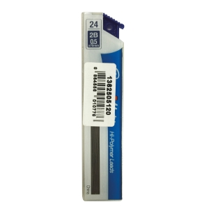 PAPERMATE PENCIL LEAD REFILLS 0.5MM 2B - BOX OF 24